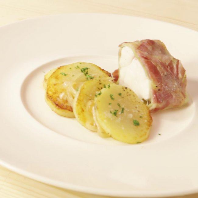 Coda di rospo con Pancetta Piacentina DOP