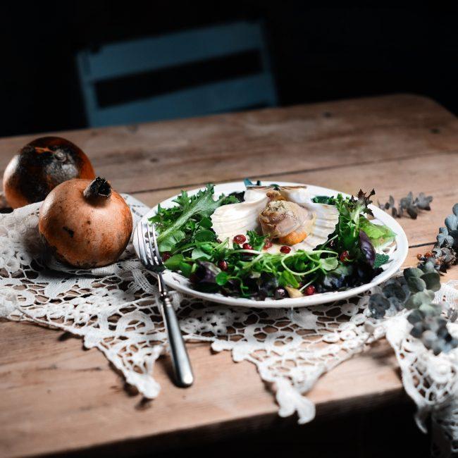 Capesante con lardo e pancetta